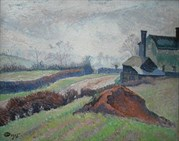 Signed Oil On Canvas By Lucien Pissarro