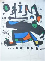Signed Coloured Print By Joan Miro