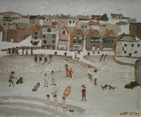 Lot 1 - Beach Scene By Fred Yates