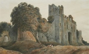 Lot 22 - Peter De Wint Painting Of Caldicot Castle