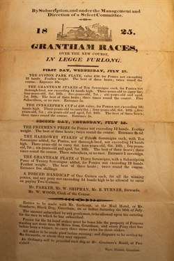 Grantham Races Poster