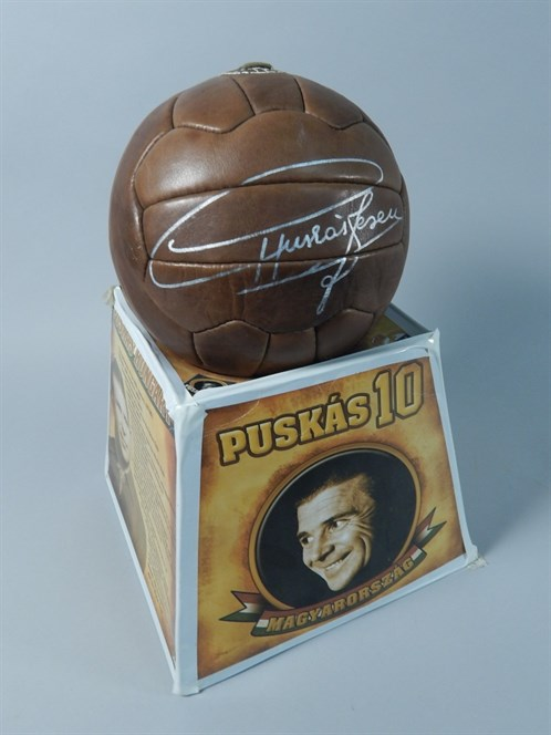 Lot 357 - A Football Signed By Puskas