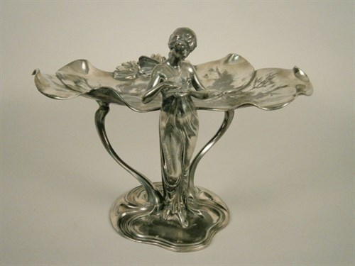 This Art Nouveau -style WMF Pewter Centrepiece Has An Estimate Of Between £600 And £800