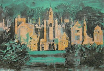 Lot 9 - John Piper Screen Print Of Harlaxton Manor
