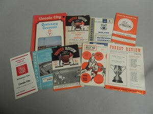 Lot 22 Lincoln City Vintage Football Programmes