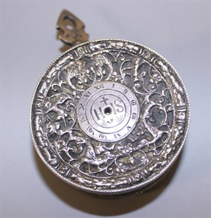 Lot 3487 A Late 16th C Early 17th C Continental White Metal And Silvered Brass Pocket Watch Case