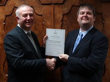 Craig Bewick And Colin Young NAVA Certificate