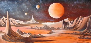 Lot 176 - Red Planet 2 By Peter Lightfoot