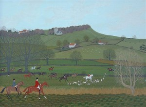 Lot 1 - Vincent Haddelsey 's The Hunt Over The Fields