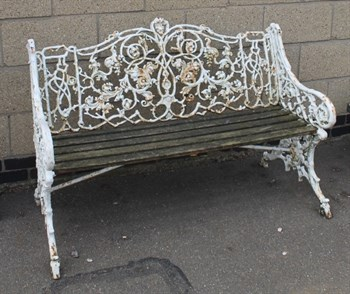 Lot 771 A 19thC cast iron bench