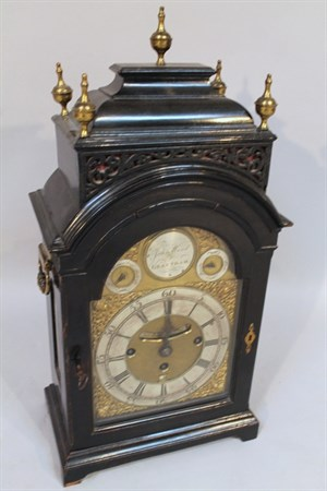 Lot 23 John Wood of Grantham Bracket Clock