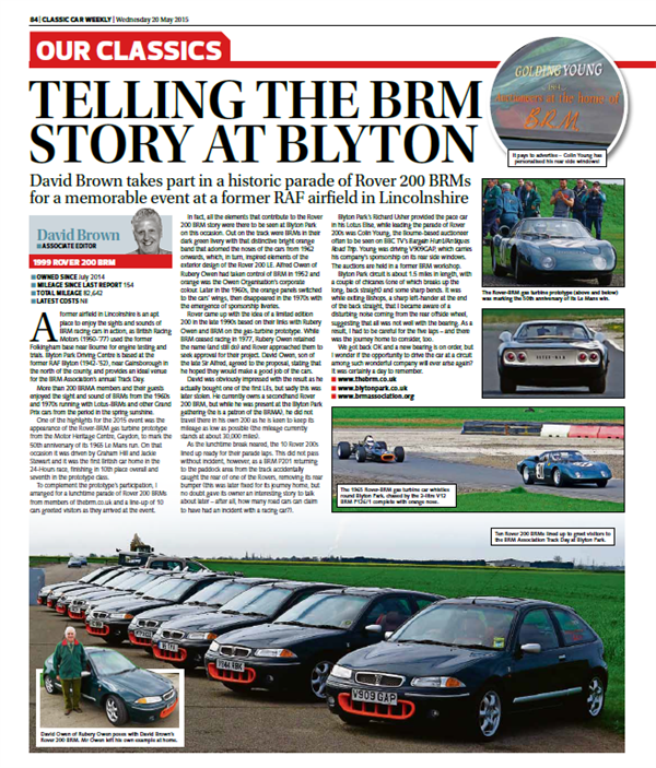 BRM Track Day Article