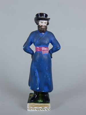 Lot 1 A 19thC Russian Gardner porcelain figure