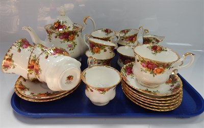 Lot 34 Royal Albert Old Country Roses tea and dinner set