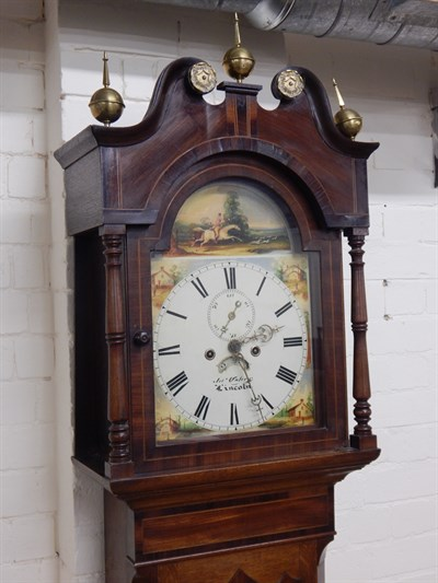 Lot 2 James Usher of Lincoln. A mid 19thC longcase clock
