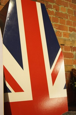 Lot 196 A Union Jack Painted Coffin
