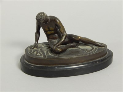 Lot 24 After the Antique. A Grand Tour type bronze of the Dying Gaul
