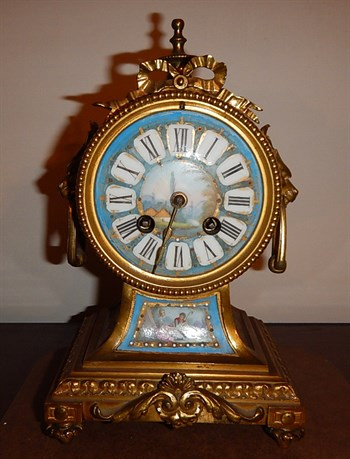 9 A Mid 19th C French Balloon Mantel Clock