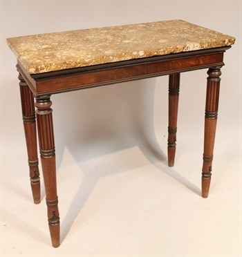 Lot 459 A Regency mahogany marble topped side table