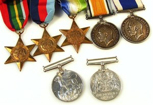 13 A part WWI and WW2 medal group