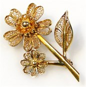 Thumbnail _lot 38 A flower head brooch