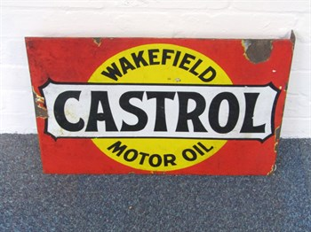 39 A Castrol of Wakefield Motor Oil wall mounted sign