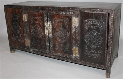 Thumbnail _lot 3158 A Chinese hardwood marriage chest