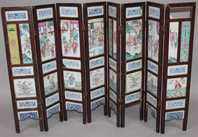 3119 A 19thC Chinese folding low screen