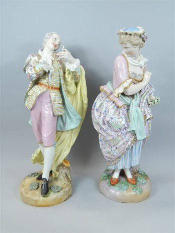 Thumbnail _lot6 A pair of Meissen Marcolini period figures