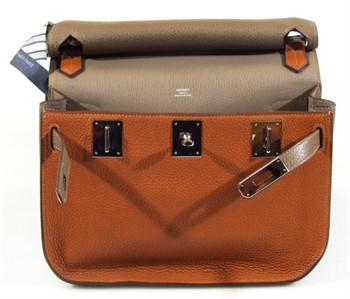 Thumbnail _lot 2-4 A Hermes Taurillon Clemence two coloured shoulder bag