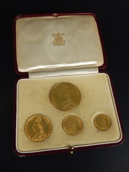 Thumbnail _lot 46 A set of four Queen Victoria 1887 gold coins