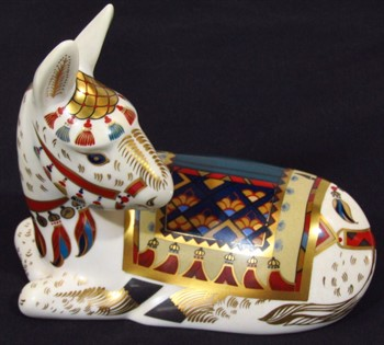 Thumbnail _lot 130 A Royal Crown Derby paperweight figure, (Thistle) The Donkey