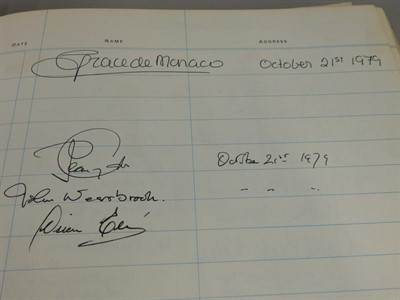 Thumbnail _Lot 7 - The Signature Of Princess Grace Of Monaco Dated 1979