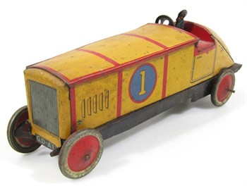 Thumbnail _lot 11 An early 20thC Gray Dunn's racing car biscuit tin