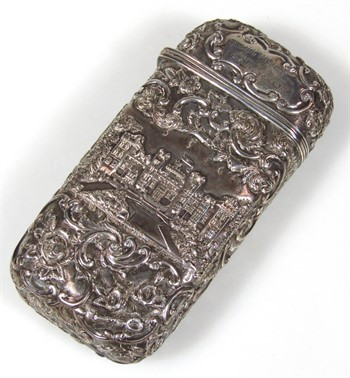 Thumbnail _lot 109 A Victorian silver castle top style spectacles case