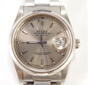 Lot 293 A Rolex Oyster Perpetual stainless steel wristwatch