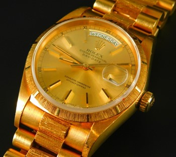 Thumbnail _lot2 A Rolex Oyster perpetual day date wristwatch