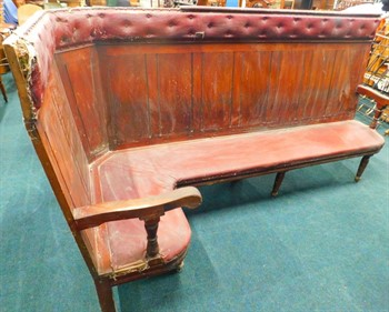 Thumbnail _lot 19 Victorian mahogany railway waiting room corner bench