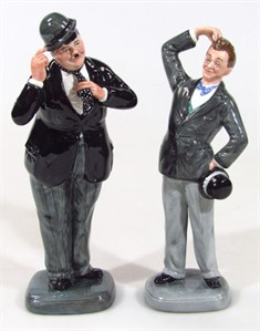 Thumbnail _lot 118 A Royal Doulton figure Stan Laurel and Oliver Hardy