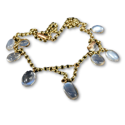 Thumbnail _lot 48 A Victorian moonstone graduated necklace