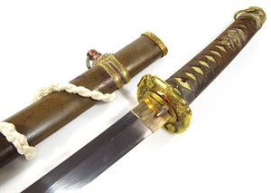 1951 A Japanese officer's Samurai sword