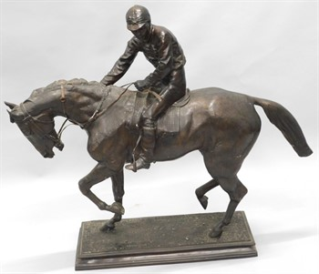 2125 After Isadore Bonheur (1827-1901). A horse and jockey on rectangular base
