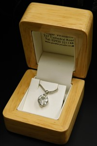 Lot 2207 A diamond pendant