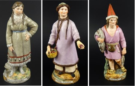 Lots 2214 To 2216 Russian porcelain figures