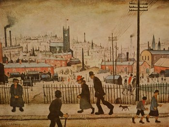 2951 Laurence Stephen Lowry (1887-1976). View of a town