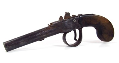 lot 43 19th century flintlock pistol by Wilkins of Grantham