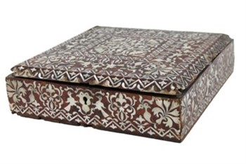 Lot 84 An antique Anglo Indian box