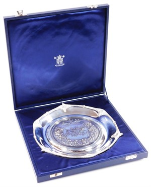 Lot 5 An Elizabeth II silver Royal Mint Classics The Waterloo Salver
