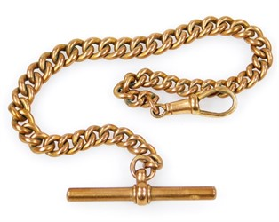 Thumbnail _lot4 A 9ct gold watch chain