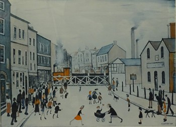 Thumbnail _lot 3002 Laurence Stephen Lowry (1887-1976). The Level Crossing, Burton on Trent,